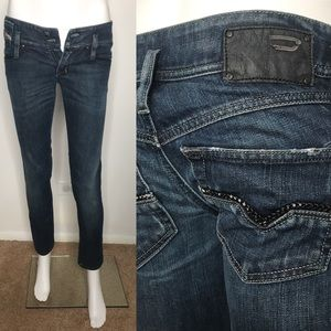 Diesel Matix Blue Skinny Jeans Braided Pockets 25
